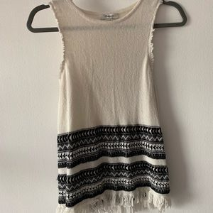 Madewell Villagrove Sweater Tank in Bright Ivory